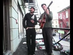 Patrick Watson performs Words In The Fire on a fire escape in Montreal