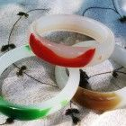 3 genuine ice jade bangle bracelets, China Imports, unisex