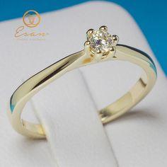 Inel de logodna solitaire cu diamant ES23 Aur, Engagement Rings, Jewelry, Fashion, Enagement Rings, Moda, Wedding Rings, Jewlery, Jewerly