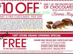 Fannie May Coupons Ends of Coupon Promo Codes MAY 2020 ! Was of Lasalle person H. 1920 Chicago success Teller by name retail In A May. Store Coupons, Grocery Coupons, Print Coupons, Coupons For Boyfriend, Coupon Stockpile, Free Printable Coupons, Extreme Couponing, Coupon Organization, Dog Food Recipes