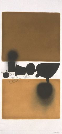 Victor Pasmore, 'Abstract' 1972. Auquatint and etching on paper