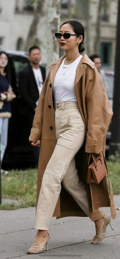 fab neutrals outfit trench coat khaki tan pants strappy heels Beige Outfit, Monochrome Outfit, Neutral Outfit, Trench Coat Outfit, Trench Coats, Tan Coat Women, Coats For Women, Sandro, Shopping