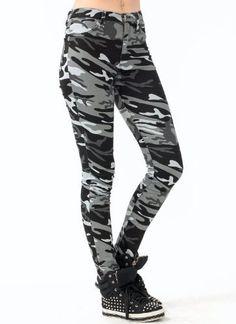 Camo Skinny Jeans:Amazon:Clothing
