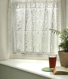"Rabbit Hollow - Tree of Life - Lace Curtains valance 60""w x 15""l $18.90"