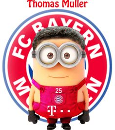 Thomas Muller minions by minionfootballclubofficial