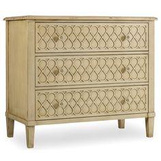 Hooker Furniture Melange Raised Lattice 3 Drawer Front Chest | Wayfair