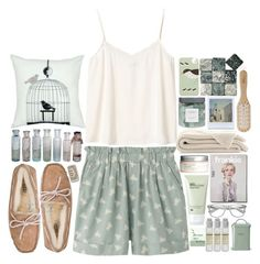 """""""It Scares You Being Alone"""" by theonlynewgirl ❤ liked on Polyvore featuring Uniqlo, Monki, UGG Australia, H&M, Philip Kingsley, Le Labo, Polaroid, Threshold, Origins and Retrò"""