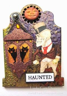 FRIENDS in ART - Tombstone Swap from Retro Cafe Art Gallery - Some of my favorite color combinations are used for traditional Halloween projects.