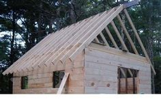 How To Stick Frame Any Pitch Wood Rafter Gable Roof Plans Roof Styles, House Styles, Roof Truss Design, Fabric Structure, Roof Trusses, Gable Roof, Roof Plan, Diy Shed, Building Structure
