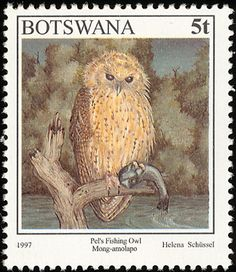 Pel's Fishing Owl stamps - mainly images - gallery format