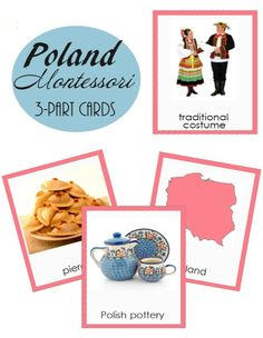 ~~Poland Montessori 3-part cards~~  These cards will help your child to explore and know more about Poland! They can be used during Europe study. These are educational printable 3-part cards that include Poland map, capital, landmarks and other!