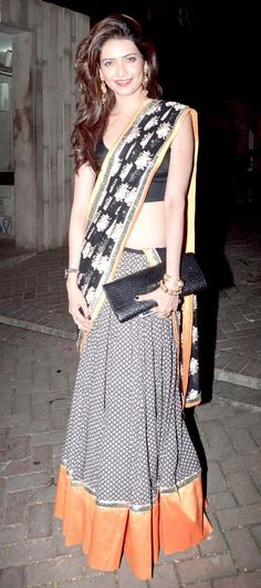 Karishma Tanna at Vikas Bahl's Diwali bash. #Bollywood #Fashion #Style #Beauty