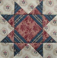 ' Missouri Star ' quilt block   Barbara Brackman Civil War Quilt