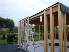 Modern tuinhuis / bijgebouw : Hoe maak je het, hoe heb ik het zelf gedaan. Foto's en uitleg van buitenkant & binnenkant.