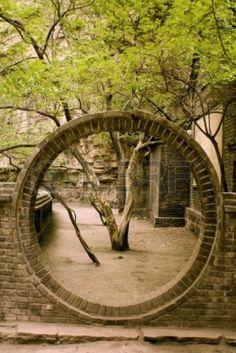round gate, traditinal architecture in China photo