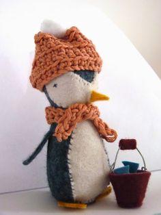 Feutrine pingouin, blog Dans un petit village