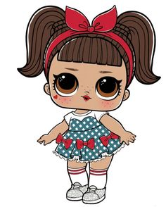 Details about Doll iron on transfer with instruction Decoration Communion, Glitter Party Decorations, Lol Doll Cake, Chibi Kawaii, Cute Cartoon Girl, Paper Dolls Printable, Doll Party, Lol Dolls, Drawing Eyes