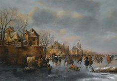 View An extensive winter landscape with numerous figures on the ice by Nicolaes Molenaer on artnet. Browse upcoming and past auction lots by Nicolaes Molenaer. Dutch Golden Age, Old Master, Winter Landscape, Art Oil, Impressionist, Landscape Paintings, Modern Art, Prints, Ice