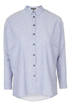 PETITE Oversized Chambray Shirt