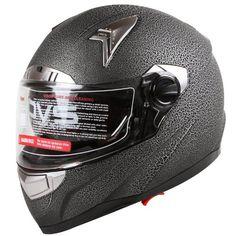 Cracked Paint Texture Reptile Skin Effect Dual Visor Motorcycle Street Bike Helmet