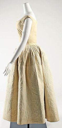 Petticoat Date: mid-19th century Culture: probably American Medium: cotton Dimensions: Length at CB: 46 in. (116.8 cm)