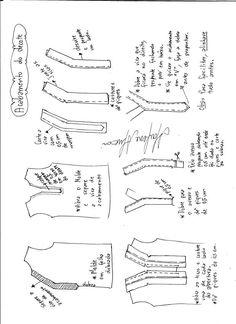 Patrón blusa con abertura - Patrones gratis