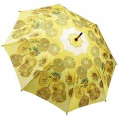 Galleria Art Print Auto Open & Close Folding Umbrella - Sunflowers by Van Gogh
