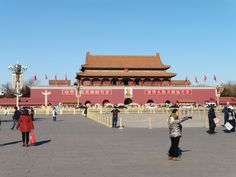 """The Tian'anmen, Beijing. the Chinese name is derived from the phrase """"receiving the mandate from heaven, and pacifying the dynasty."""" The Tian'anmen separates the Tiananmen Square from the Forbidden City. Chinese Name, Tiana, Beijing, Louvre, Heaven, In This Moment, City, Asia, Pictures"""
