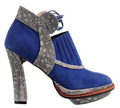 Lovely blue boots by Minna Parikka...