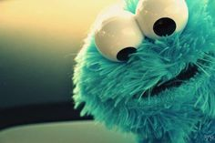 Cookie Monster1  When I was a kid, I would try to eat my cookies like Cookie Monster! My mom did NOT appreciate cleaning up the crumbs!  lol