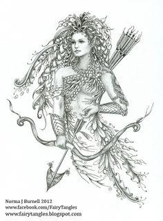 Elf - Zentangle - Doodles (By Norma Burnell)