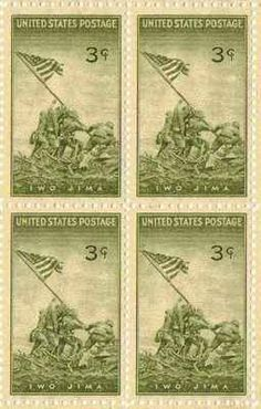 Iwo Jima Set of 4 x 3 Cent US Postage Stamps NEW Scot 929 . $5.50. One set of four (4) Iwo Jima 4 x 3 Cent postage stamps Scot #929