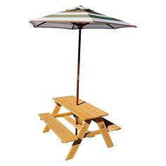 Create a cute spot of outdoor seating space for your child with the Sunset Picnic Table & Umbrella from Lifespan Kids.