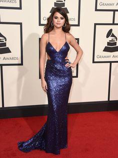 Selena Gomez wears Calvin Klein at the 2016 Grammy Awards [Photo: AP]