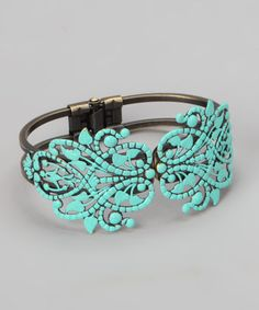 Take a look at this Aqua Piper Cuff Bracelet by dAffadowndily on #zulily today!