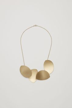 COS image 1 of Short metal necklace in Gold