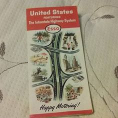 #Day60 Got a classic 1964 USA road map today awesome! #photoaday #photoaday2017