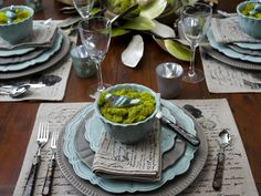 Simple palette of greys and blues is perfect for any season.