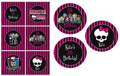 Free Printable Monster High Cupcake Toppers -Leah