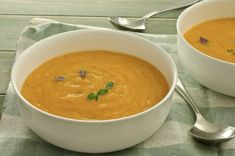 Slow Cooker Butternut Squash Soup - PERFECT Fall Soup!  www.GetCrocked.com