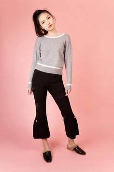 By Chloe Grey Sweater | Petite Studio-petite clothing & tops. Love the finished length.
