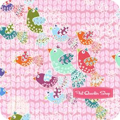 Fanciful Flight Pink and Pearl Up in the Air Yardage  SKU# 8621-12P