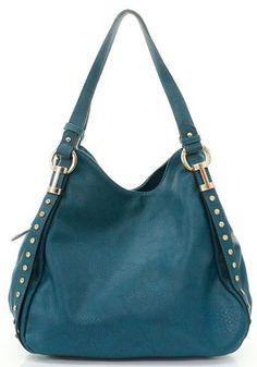 Teal Studded Hobo Bag <3