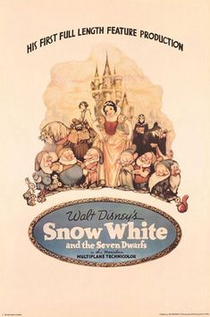 Walt Disney's first production 'Snow White and the Seven Dwarfs' - 1937