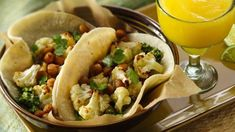 Vegan Chickpea and Vegetable Tacos with Cauliflower