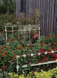 Lettuce not forget the humble bed frame. Amazing Gardens, Beautiful Gardens, Landscape Design, Garden Design, Lush Lawn, Garden Whimsy, Colorful Plants, Small Backyard Landscaping, Rustic Outdoor