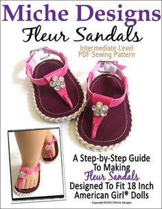"""Fleur Sandals 18"""" Doll Shoes"""