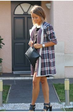Tartan jacket / outwear / sheinside / zara