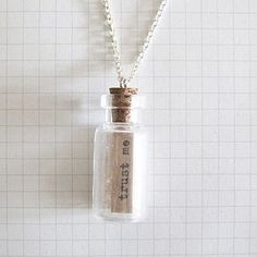 Message Bottle Necklace Trust Me by Wue