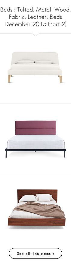 """""""Beds : Tufted, Metal, Wood, Fabric, Leather, Beds December 2015 (Part 2)"""" by paxpasha ❤ liked on Polyvore featuring home, furniture, beds, bedroom, home decor, queen storage bed, queen head board, queen bedroom set, leather queen bed and oak queen headboard"""